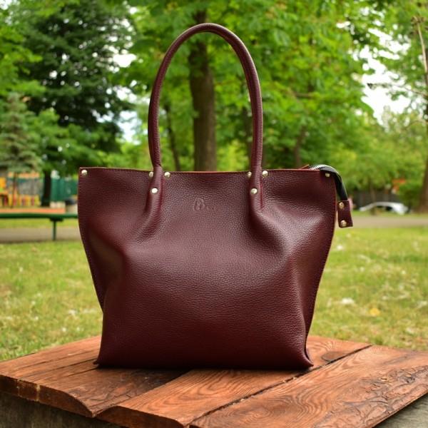 f4cd51253b03 Сумка Shopper Bordo-shine - Кожаные сумки через плечо, изделия из ...