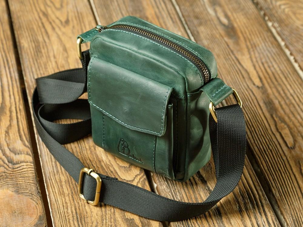 0f446513cf9d Заказать кожаную мини сумку Keeper Green | Цена на кожаную сумку — Babak