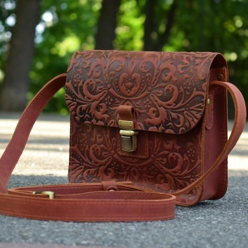 3fa8ea869e74 Кожаные сумки на плечо, Сумка Le flёr CognacT купить - изделия из ...