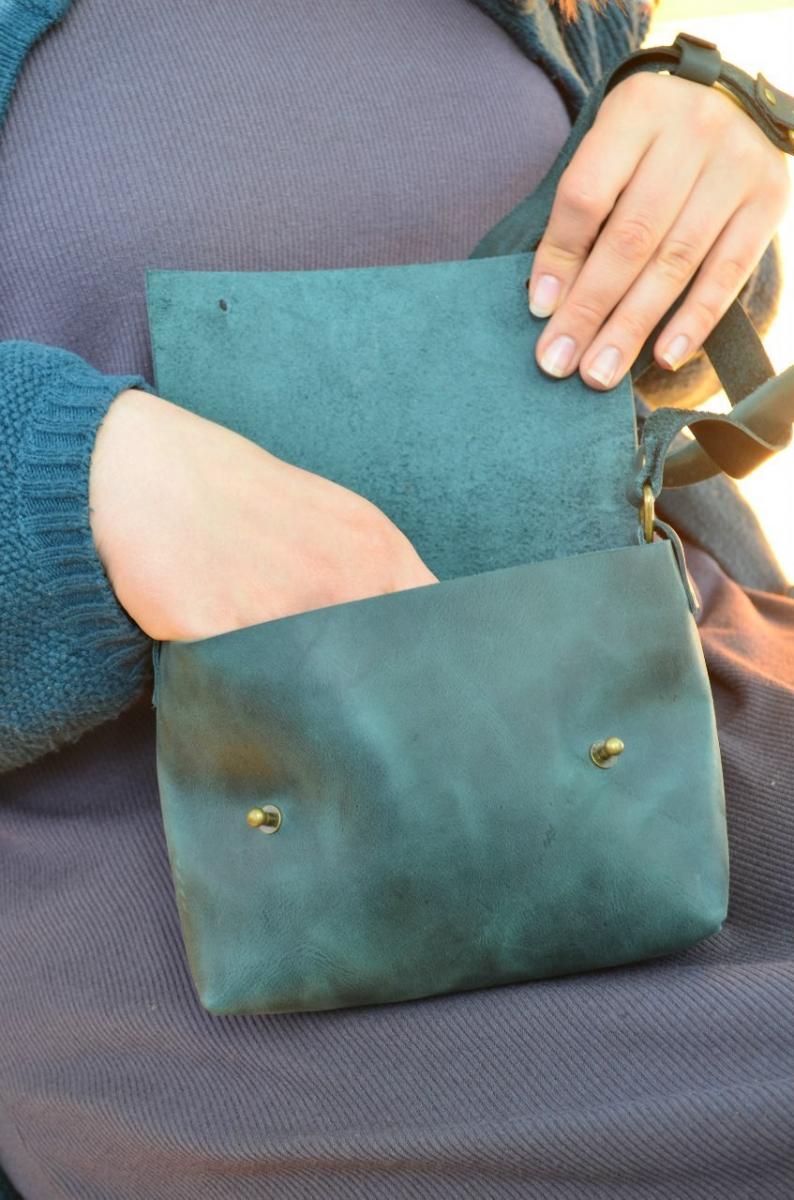 077215cb7de0 Кожаные сумки на плечо. Сумка кожаная Kolibri Green - изделия из ...